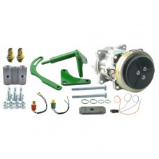 John Deere 6622 Combine Conversion Kit Delco A6 to Sanden Compressor with Dual Switch