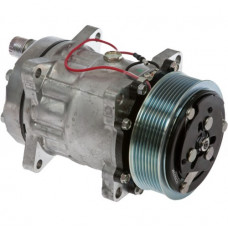Ford | New Holland CR920 Combine Sanden Compressor with Serpentine Clutch - New | 8884058795