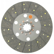 David Brown 1290 Tractor 11 inch Transmission Disc - Woven with 1-3/4 inch 10 Spline Hub - New