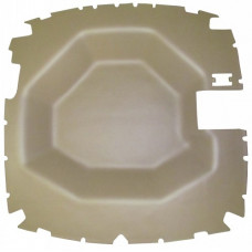 John Deere 8520 Headliner - Formed - Vinyl - Tan