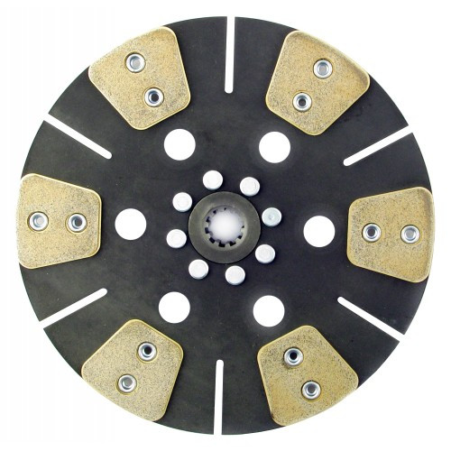Farmtrac Farmtrac 45 Tractor 11 inch Disc - 6 Pad Solid Center Only with 1  inch 10 Spline Hub - New