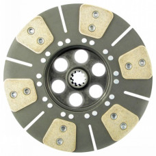 Massey Ferguson 302 Industrial Tractor 11 inch Transmission Disc - 6 Pad with 1-1/8 inch 10 Spline Hub - New