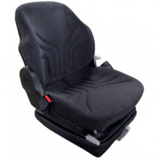John Deere 8700 Black and Gray Fabric Seat with Mechanical Suspension