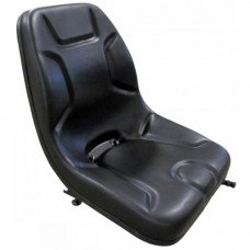 Aftermarket (Not OEM) Bobcat 843 Black Vinyl Bucket Seat without Arms