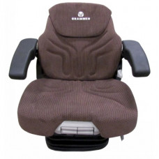 John Deere 8700 Brown Fabric Seat with Dynamic Dampening Air Suspension