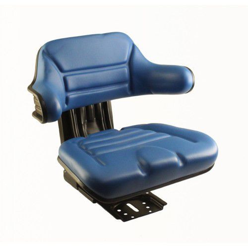 A For 555a Backhoe Seat : Ford new holland blue vinyl wrap around seat utility