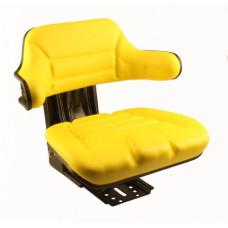John Deere 810 Yellow Vinyl Seat with Mechanical Suspension