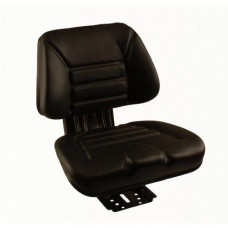 TAFE 35DI Black Vinyl Flat Back Seat with Mechanical Suspension