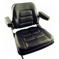 Allis Chalmers | AGCO Allis AC150 Black Vinyl Seat with Slide Track (S830801(AC150))