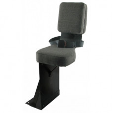 Steiger KR1225 Cougar Gray Fabric Side Kick Seat