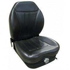 Kubota M6040HDNB Black Vinyl Seat with Integrated Suspension