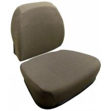 John Deere 9950 Dark Brown Fabric Cushion Set with Lumbar
