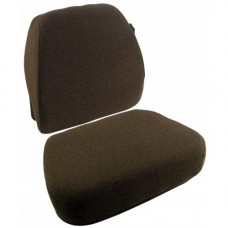 John Deere 8300T Dark Kayak Brown Fabric Cushion Set with Lumbar