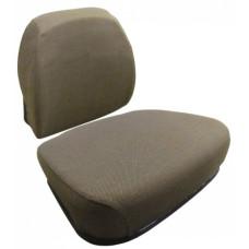John Deere 9950 Cotton Picker Dark Brown Fabric Cushion Set with Lumbar
