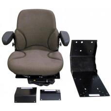 John Deere 9950 Brown Fabric Seat with Air Suspension