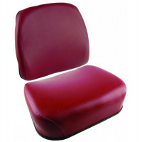 White | AGCO White 2-155 Maroon Vinyl Cushion Set (SW3347931V(2-155)) | SW3347931V(2-155)