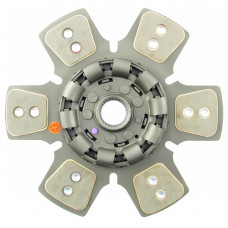 White | AGCO White 100 Tractor 14 inch Disc - 6 Large Pads with 1-3/4 inch 27 Spline Hub - New