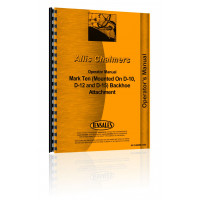 Allis Chalmers Mark Ten Backhoe Attachment Operators Manual