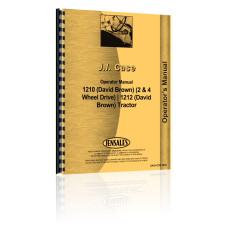 Case 1210 Tractor Operators Manual