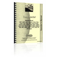 Continental Engines Y91 Engine Operators Manual