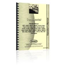 Continental Engines F186 Engine Operators Manual