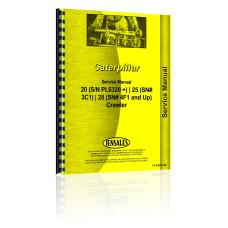 Caterpillar 25 Crawler Service Manual (SN# 3C1)