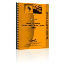 Gilson 53003 Lawn & Garden Tractor Operators & Parts Manual