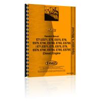 Hatz E71,ES71, E75, ES75, E79, ES79, E780, ES780, E785, ES785 Engine Operators Manual (Dsl)