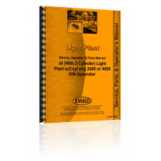 Light Plant Light Plant w/2-cyl eng 3000 or 4000 KW Generator Service Manual