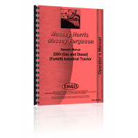 Massey Ferguson 2200 Industrial Tractor Operators Manual