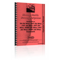 Massey Ferguson 444WT Snowmobile Operators Manual (Ski Whiz)