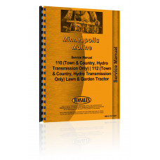 Minneapolis Moline 110 Lawn & Garden Tractor Hydrostatic Transmission Only Service Manual