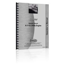 Stover K-1-1/2 Engine Operators Manual (1936)