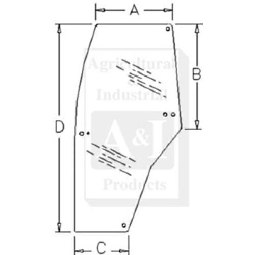 Case | Case-IH MX100 Tractor Glass, Door (LH)