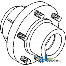 Ford | New Holland 245C Tractor Hub, Front Wheel (6 Bolt)