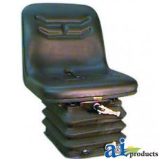 "Ford | New Holland TN90F Tractor 16"" Narrow Seat w/ Narrow Mechanical Suspension, BLK"