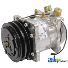 Ford | New Holland TN95VA Tractor Compressor, New, Sanden Style w/ Clutch (6332)