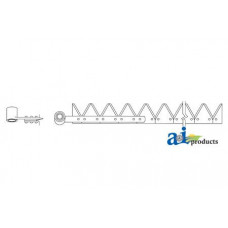 Ford | New Holland 1090 Windrower 12', Chrome 12ga top serrated, Riveted (self propelled w/ head)