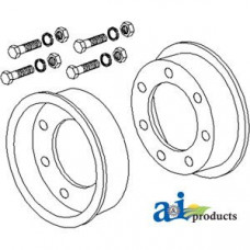 Image of Modern SEVERAL Rotary Cutter Rim, Two Wheel Halves w/ Bolts