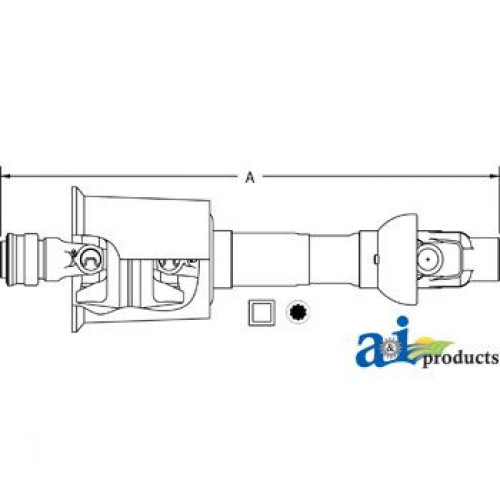 Fiat | Hesston 555S Round Baler Domestic 80° Constant Velocity Driveline  Less Implement Yoke (1000 RPM)