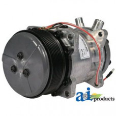 Ford | New Holland TV145 Tractor Compressor, New, Sanden Style w/ Clutch (8100)