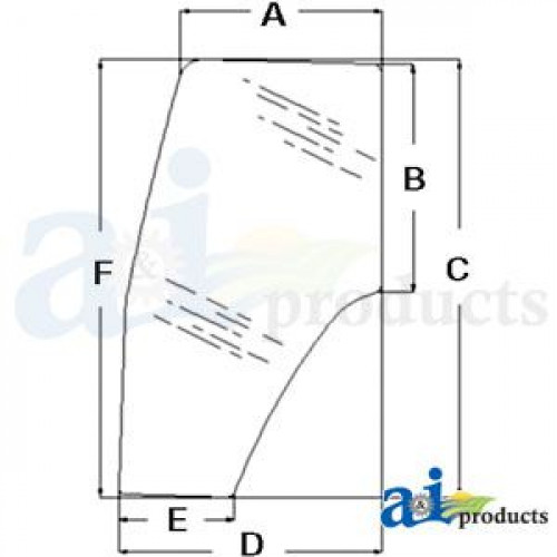 Ford | New Holland TS110 Tractor Glass, Door (LH) (D4667 S/N 163726B and  greater)