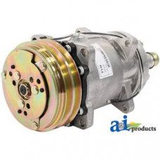 Ford | New Holland 846 Tractor Compressor, New, Sanden Style w/ Clutch (9125)