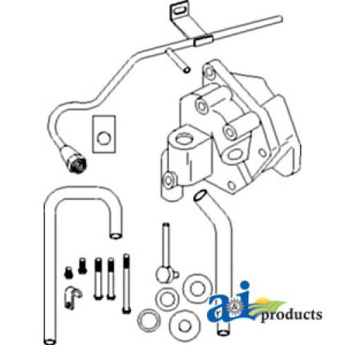 AR93313 500x500 john deere 4430 tractor housing, transmission pump; w gears