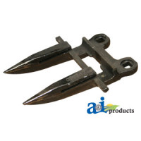Image of Badger ALL MODELS Mower Conditioner Forged Guard, 2 Prong, Dbl Heat Treated
