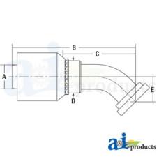 Image of HW Series Male, Rigid, 45 Elbow Code 61 (HW-C61) Code 61 Flange Head - 45° Elbow