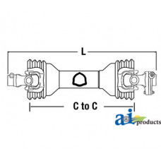 "Image of Kodiak HD84-2 Rotary Cutter Driveline; W/ 7.87"" Friction Clutch"