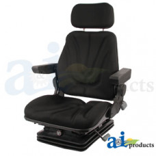 Ford | New Holland T7070 Tractor Seat, F10 Series, Air Suspension / Armrest / Headrest / Black Cloth
