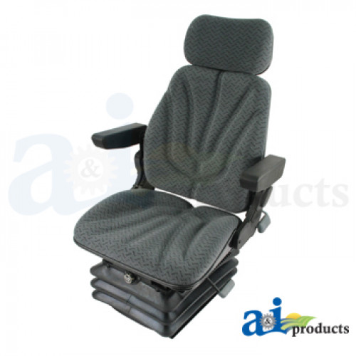 Ford | New Holland TS100 Tractor Seat, F10 Series, Air Suspension / Armrest  / Headrest / Gray Cloth