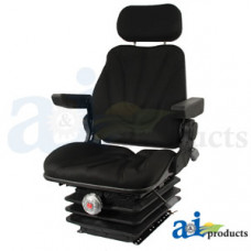 Ford | New Holland T7070 Tractor Seat, F10 Series, Mechanical Suspension / Armrest / Headrest / Black Cloth